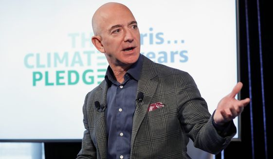 Last year, Jeff Bezos, the CEO of Amazon, poured over $1 million into Seattle's municipal elections. Big Tech is becoming a behemoth on the U.S. political scene. (Associated Press)