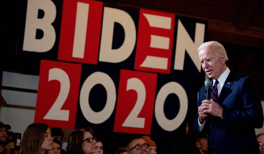 Democratic presidential candidate former Vice President Joseph R. Biden is in a tight four-way race for the 2020 nomination. (Associated Press)