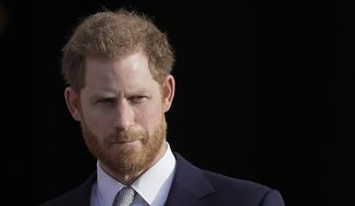 Britain's Prince Harry decided to self-impeach. (Associated Press/File)