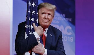 President Trump won't be convicted in his Senate trial, and stands a 52% chance of winning the 2020 election, says a bookmaking source. (Associated Press)