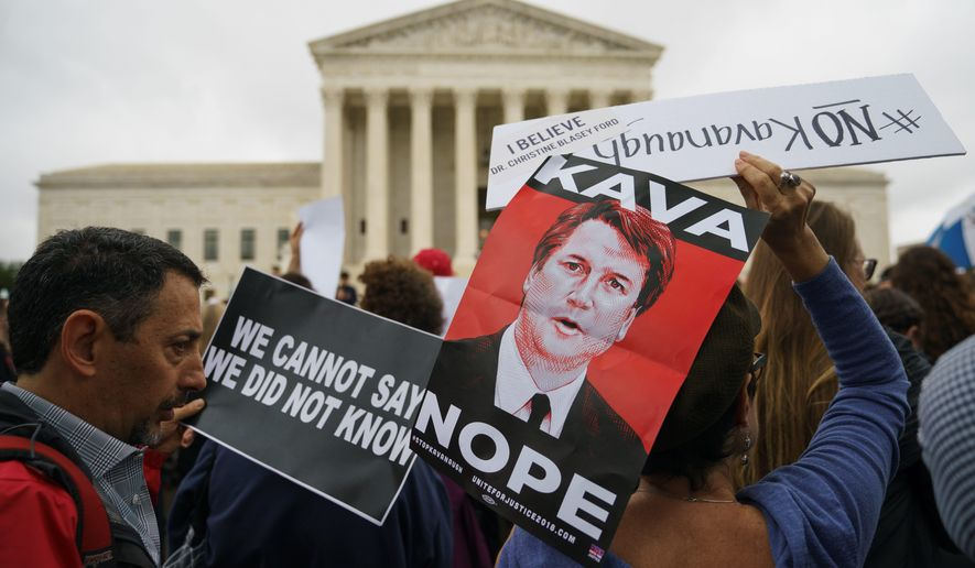 President Trump has gotten two Supreme Court justices nominated and confirmed. Justice Brett M. Kavanaugh's nomination was opposed by many liberals. (Associated Press photographs)