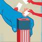 Citizens United v FEC decision illustration by Linas Garsys / The Washington Times
