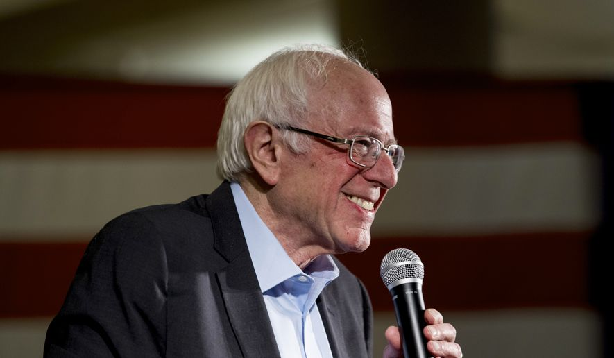 Democratic presidential candidate Sen. Bernie Sanders, I-Vt., speaks at a campaign stop at the State Historical Museum of Iowa, Monday, Jan. 20, 2020, in Des Moines, Iowa. (AP Photo/Andrew Harnik)