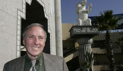 """Author Joseph Wambaugh poses Thursday, Dec. 7, 2007, in the Hollywood section of Los Angeles. In his new book """"Hollywood Station,"""" Wambaugh recalls the golden days of his beloved LAPD, when Jack Webb would intone on TV's Dragnet: """"This is the city, Los Angeles, California."""" (AP Photo/Damian Dovarganes)"""