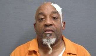 This Saturday, Jan. 18, 2020 booking photo released by the Houston County Jail in Dothan, Ala., shows voting rights activist Kenneth Glasgow, who was arrested on assault, drug and evidence tampering charges. Glasgow allegedly scuffled with a police officer who was attempting to arrest him after finding drugs. Glasgow has worked for years to register prisoners to vote inside jails and prisons. (Houston County Jail via AP)