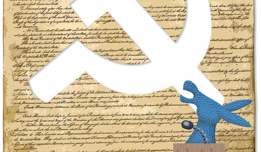 Dems Talking Constitution Illustration by Greg Groesch/The Washington Times