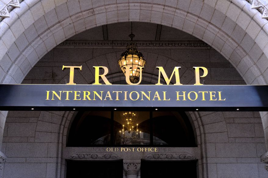 In this March 11, 2019, file photo, the Trump International Hotel is seen in Washington. (AP Photo/Mark Tenally)