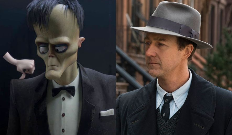 """Lurch and Thing from """"The Addams Family"""" and Edward Norton stars in """"Motherless Brooklyn"""" both are available on Blu-ray."""