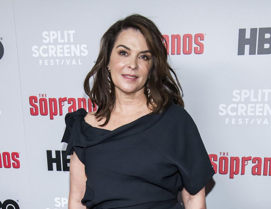 "In this Jan. 9, 2019, file photo, Annabella Sciorra attends HBO's ""The Sopranos"" 20th anniversary at the SVA Theatre in New York. Sciorra is set to confront Harvey Weinstein at his New York City rape trial, more than a quarter-century after she says he pinned her to a bed and raped her. She is expected to testify Thursday, Jan. 23, 2020. (Photo by Charles Sykes/Invision/AP, File)"