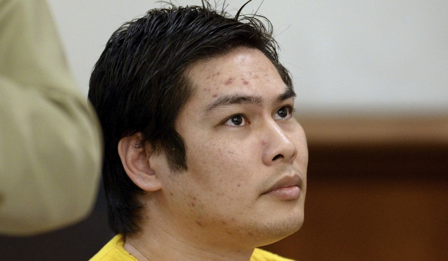 FILE - In this Oct. 19, 2015, file photo, Ronald David Guinto appears in a courtroom during the first day of his preliminary hearing at the A.F. Bray Courthouse in Martinez, Calif. Guinto's twelve former students, who he was convicted of sexually abusing when he was their teacher at a San Francisco Bay Area school, will receive a combined $10.9 million to settle a lawsuit against the school, an attorney said Wednesday, Jan. 22, 2020. Guinto, 38, is serving a 931-year sentence after being convicted in 2017 of molesting 15 boys when he was their teacher at Making Waves Academy in Richmond and ran a youth program. (Susan Tripp Pollard/Bay Area News Group via AP, File)
