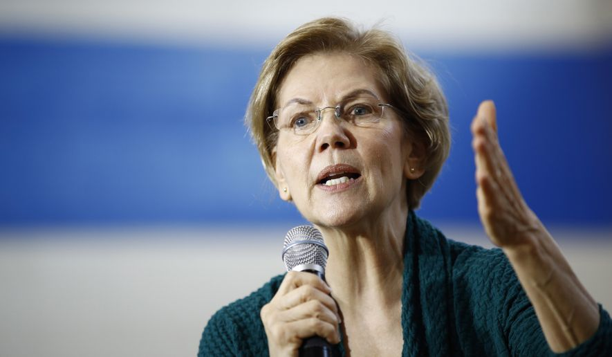 In this Jan. 19, 2020 file photo, Democratic presidential candidate Sen. Elizabeth Warren, D-Mass., speaks during a campaign event, in Des Moines, Iowa. (AP Photo/Patrick Semansky, File)