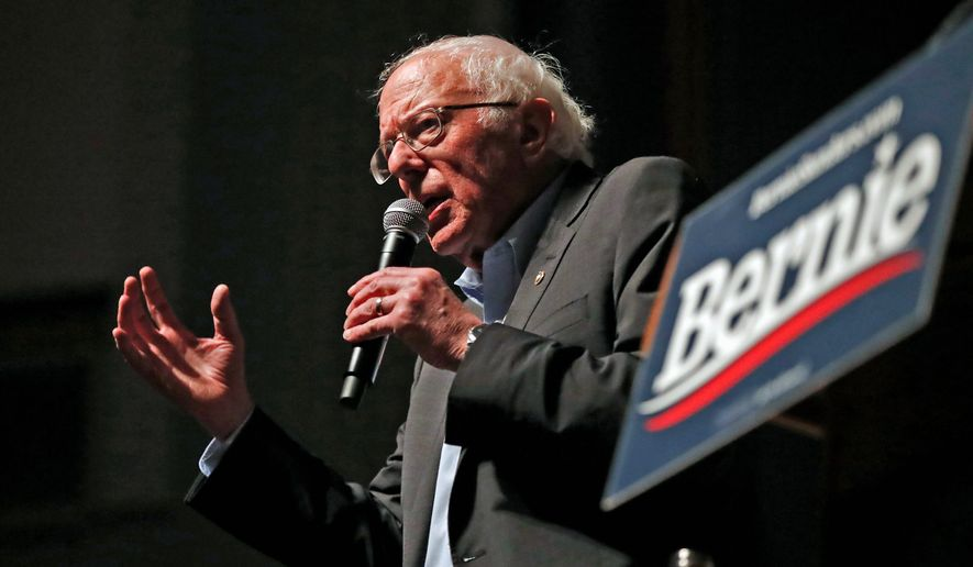 Democratic presidential candidate Sen. Bernard Sanders of Vermont is one of the front-runners for the 2020 nomination. (Associated Press)