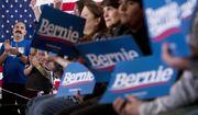 Members of the audience applaud as Democratic presidential candidate Sen. Bernie Sanders, I-Vt., speaks at a campaign stop at La Poste, Sunday, Jan. 26, 2020, in Perry, Iowa. (AP Photo/Andrew Harnik)