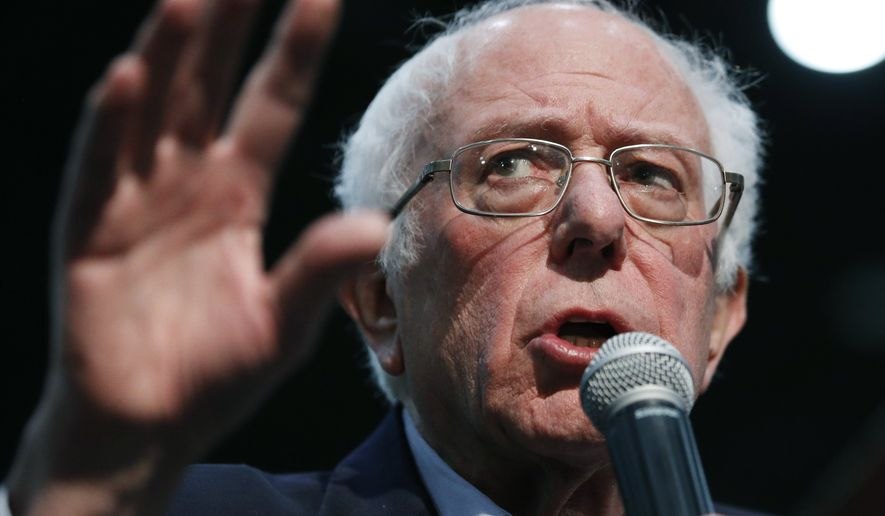 Democratic presidential candidate Sen. Bernie Sanders, I-Vt., speaks at a campaign rally Sunday, Jan. 26, 2020, in Sioux City, Iowa. (AP Photo/John Locher)