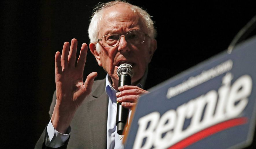 Democratic presidential candidate Sen. Bernie Sanders, I-Vt., speaks during a rally at the Ames City Auditorium in Ames, Iowa., Jan. 25, 2020. (AP Photo/Gene J. Puskar)