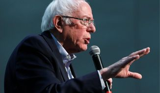 """""""You don't know. Nobody knows. That is impossible to predict,"""" Sen. Bernard Sanders said about the cost of his economic agenda. (Associated Press Photographs)"""