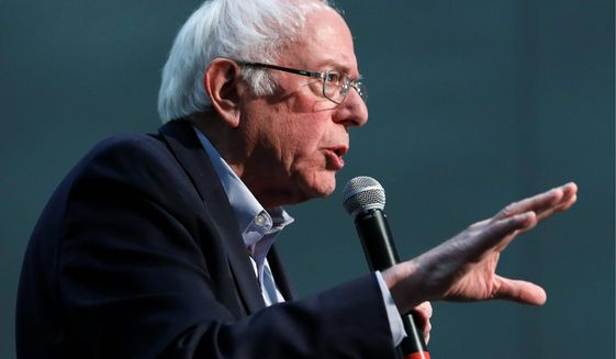 """You don't know. Nobody knows. That is impossible to predict,"" Sen. Bernard Sanders said about the cost of his economic agenda. (Associated Press Photographs)"