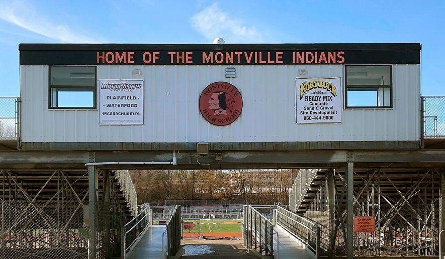 The Mohegan Tribe, which traces its local history back for centuries, said it no longer supports the use of American Indian-related team names and has asked Montville High School in Montville, Connecticut, to change its mascot and logo. (ASSOCIATED PRESS)