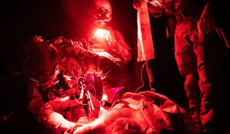 A U.S. Army Ranger Combat Medic trains with 2nd Battalion, 75th Ranger Regiment in August 2019. (Image: U.S. Army, army.mil via Sgt. Jaerett Engeseth)  ** FILE **