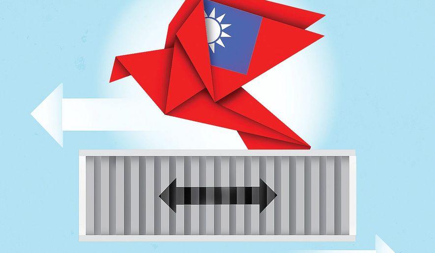 Taiwan China  illustration by Linas Garsys / The Washington Times