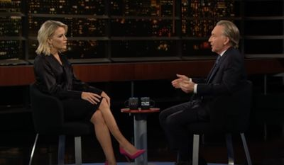 """Late-night TV host Bill Maher slammed cancel culture during an interview with former NBC host Megyn Kelly, saying it's not about upholding values of diversity and inclusiveness but more about """"getting a scalp on the wall."""" (HBO)"""