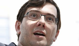 """In this Aug. 4, 2017, file photo, Martin Shkreli leaves federal court in New York while on trial for deceiving investors in a pair of failed hedge funds. On Monday, Jan. 27, 2020, New York state and federal authorities sued the imprisoned Shkreli, also known as """"Pharma Bro,"""" over business tactics that helped make him the bad-boy face of profiteering in pharmaceuticals, seeking to bar him from the industry for life. (AP Photo/Seth Wenig, File)"""