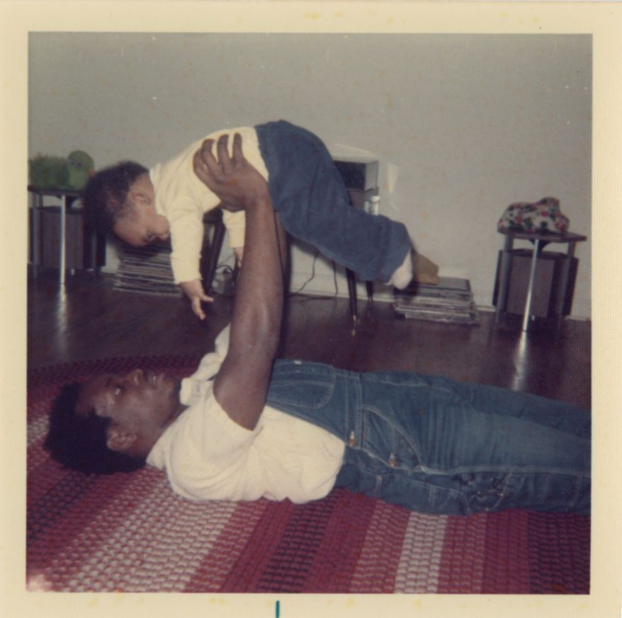 """Justice Clarence Thomas and son, Jamal, are shown in 1974 in """"Created Equal: Clarence Thomas in His Own Words."""" (Manifold Productions)"""