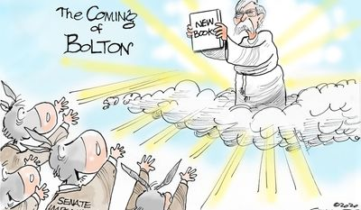 The Coming of Bolton (Illustration by Dana Summers of the Tribune Media Services)