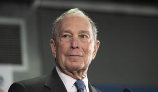 Democratic presidential candidate former New York City Mayor Michael Bloomberg speaks during a campaign event, Monday, Jan. 27, 2020, in Burlington, Vt. (AP Photo/Mary Altaffer)