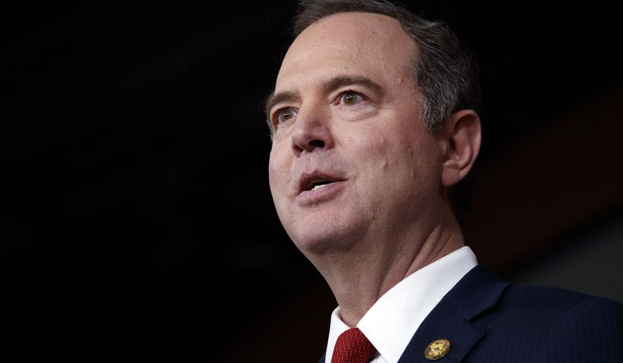 Rep. Adam Schiff, D-Calif., speaks during a news conference, Tuesday, Jan. 28, 2020, on Capitol Hill in Washington, after the impeachment trial of President Donald Trump on charges of abuse of power and obstruction of Congress. (AP Photo/ Jacquelyn Martin)