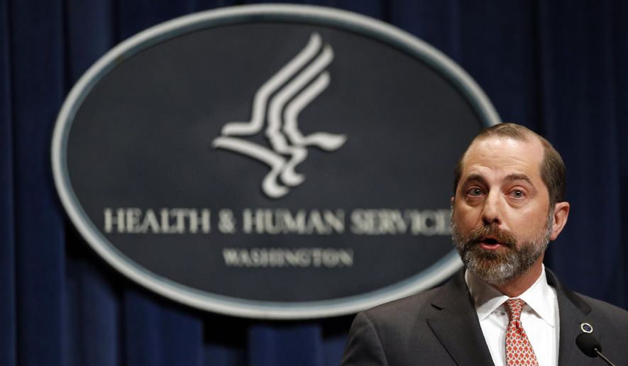 """""""We will accept the invitation to participate as part of the World Health Organization's team of experts that will deploy to China to assist Chinese experts on the ground to actually get ground troops to study this virus, get all the information to both prevent the spread further in China but also global spread of this virus,"""" said Health and Human Services Secretary Alex Azar. (Associated Press/File)"""