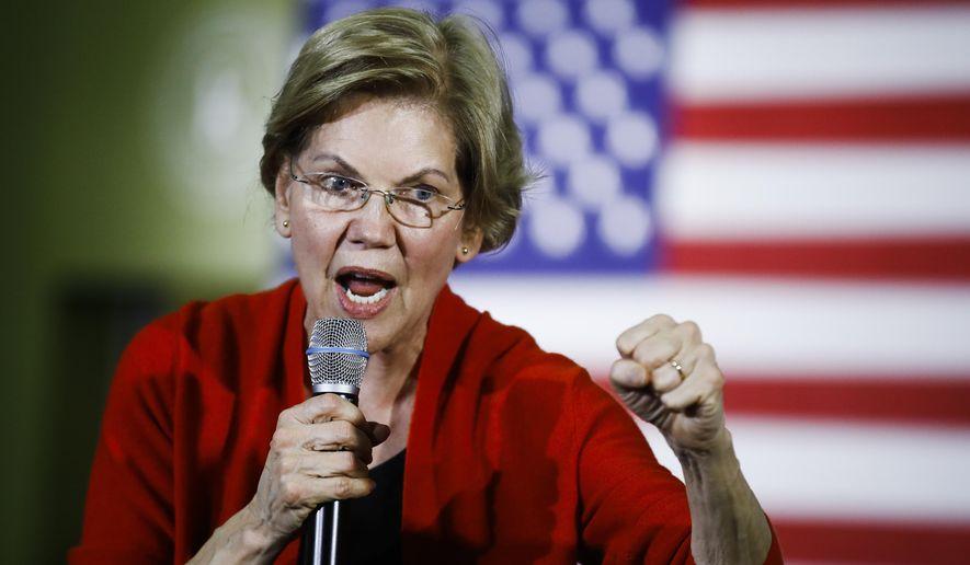 Democratic presidential candidate Sen. Elizabeth Warren, D-Mass., speaks during a campaign event, Sunday, Jan. 26, 2020, in Cedar Rapids, Iowa. (AP Photo/Matt Rourke)