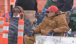 President Trump's supporters have been waiting in line since Sunday in anticipation of his historic rally Tuesday night in Wildwood, New Jersey. (News 12 New Jersey screengrab)