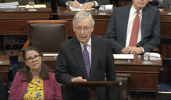 Senate Majority Leader Mitch McConnell has an obligation to show House Democrats how a trial is done properly. (Associated Press)