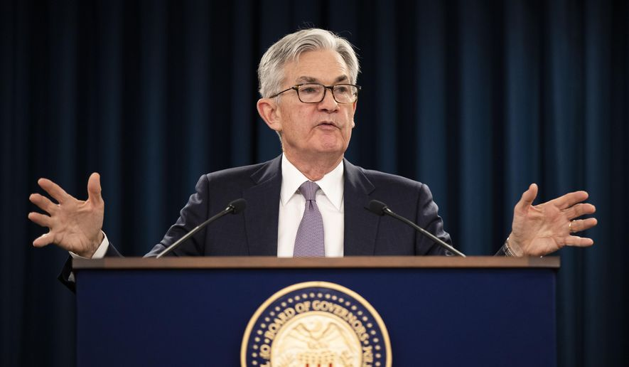 Federal Reserve Chair Jerome Powell speaks during a news conference following the Federal Open Market Committee meeting in Washington, Wednesday, Jan. 29, 2020. (AP Photo/Manuel Balce Ceneta) ** FILE **