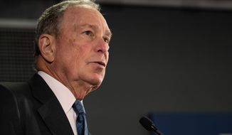 Democratic presidential candidate Michael R. Bloomberg got two big endorsements from San Francisco Mayor London Breed and D.C. Mayor Muriel Bowser. (ASSOCIATED PRESS)