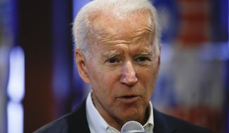 Democratic presidential candidate former Vice President Joe Biden speaks during a campaign event, Thursday, Jan. 30, 2020, in Newton, Iowa. (AP Photo/Matt Rourke)