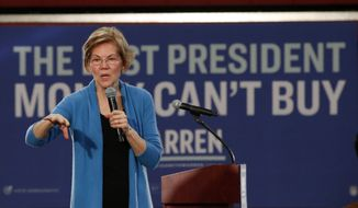 Democratic presidential candidate Sen. Elizabeth Warren, D-Mass., speaks at a campaign event Saturday, Feb. 1, 2020, in Cedar Rapids, Iowa (AP Photo/Sue Ogrocki)