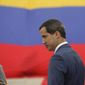"Venezuela's opposition leader Juan Guaido's claim of ""interim president"" is backed by the Trump administration. An ally says the U.S. sanctions are beginning to bite the Madruo government. (ASSOCIATED PRESS)"