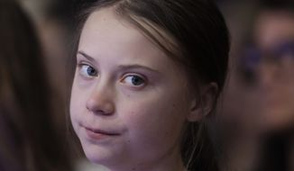 Swedish environmental activist Greta Thunberg attending the World Economic Forum in Davos, Switzerland, on Jan. 21, 2020. (AP Photo/Michael Probst)