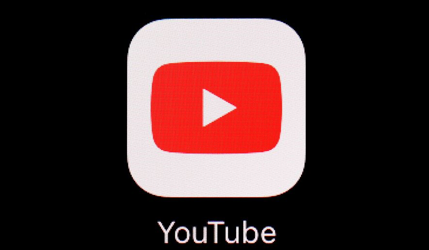 This March 20, 2018, file photo shows the YouTube app on an iPad. (AP Photo/Patrick Semansky, File)