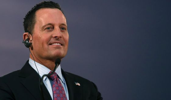 Richard Grenell, the U.S. ambassador to Germany and a favorite of President Trump, arrived as acting director of the Office of the Director of National Intelligence in February. (AP Photo/Darko Vojinovic)