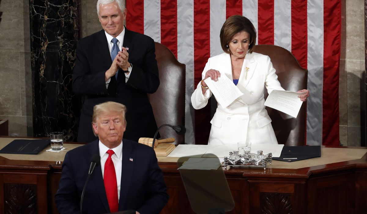 Trump: Pelosi broke the law by ripping up his State of Union speech