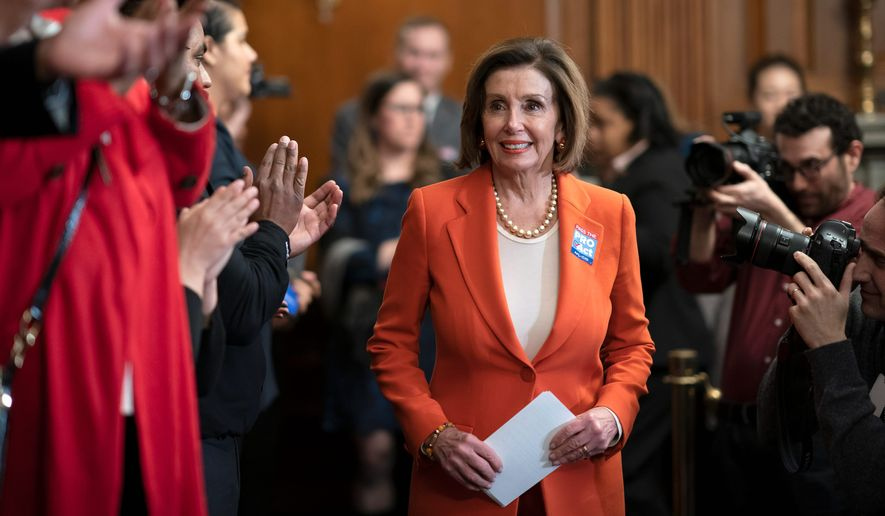 House Speaker Nancy Pelosi ripped a copy of President Trump's State of the Union address Tuesday. The brief moment illustrated tensions on Capitol Hill and inflamed political division even further. (Associated Press)