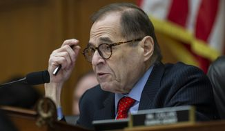 House Judiciary Committee Chairman Jerrold Nadler, of N.Y., questions FBI Director Christopher Wray as he testifies during an oversight hearing of the House Judiciary Committee, on Capitol Hill, Wednesday, Feb. 5, 2020 in Washington. (AP Photo/Alex Brandon)