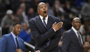Georgetown head coach Patrick Ewing reacts during the second half of an NCAA college basketball game against the Seton Hall, Wednesday, Feb. 5, 2020, in Washington. Seton Hall won 78-71. (AP Photo/Nick Wass) ** FILE **