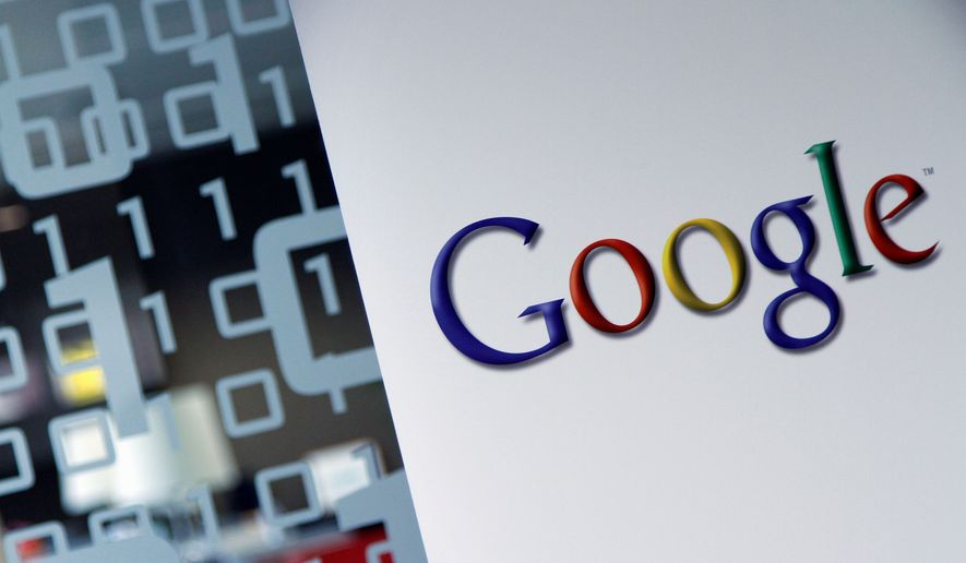 This March 23, 2010, photo, shows the Google logo at the Google headquarters in Brussels. (AP Photo/Virginia Mayo) ** FILE **