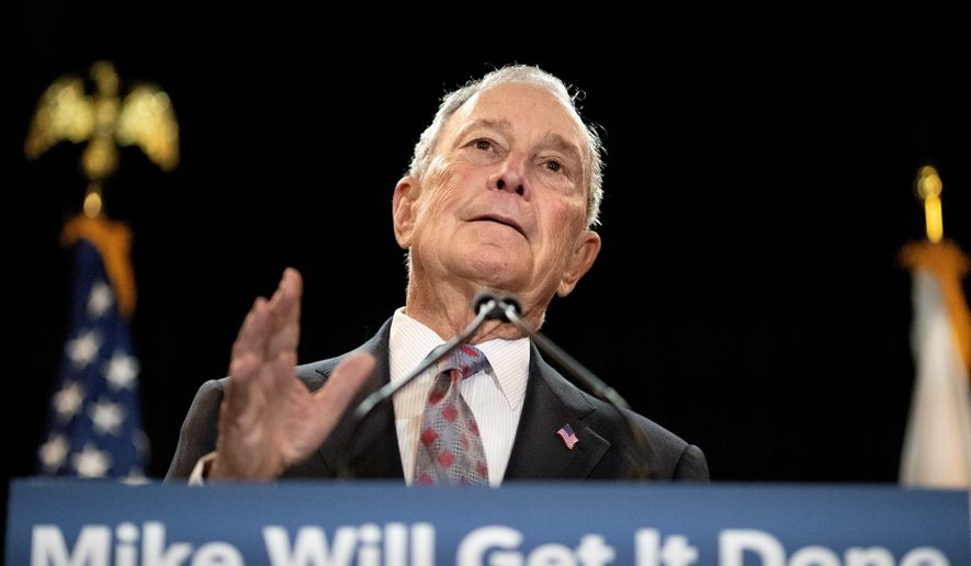 Democratic presidential candidate Michael R. Bloomberg proposed a series of tax increases for those making over $5 million per year. (Associated Press)