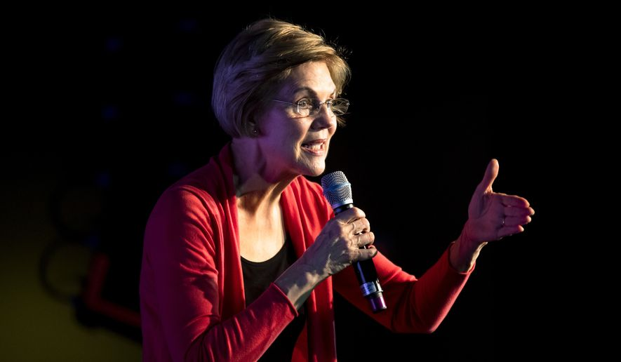 Democratic presidential candidate Sen. Elizabeth Warren, D-Mass., speaks during a campaign event, Thursday, Feb. 6, 2020, in Derry, N.H. (AP Photo/Matt Rourke)