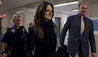 Defense attorney Donna Rotunno arrives for the Harvey Weinstein rape trial, in New York, Friday, Feb. 7, 2020. (AP Photo/Richard Drew)